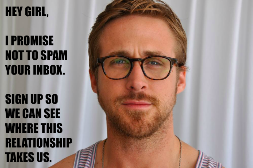 Hey Girl email Ryan Gosling