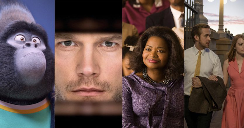 IHGB Movie Reviews: Sing, Passengers, Hidden Figures, and LaLa Land