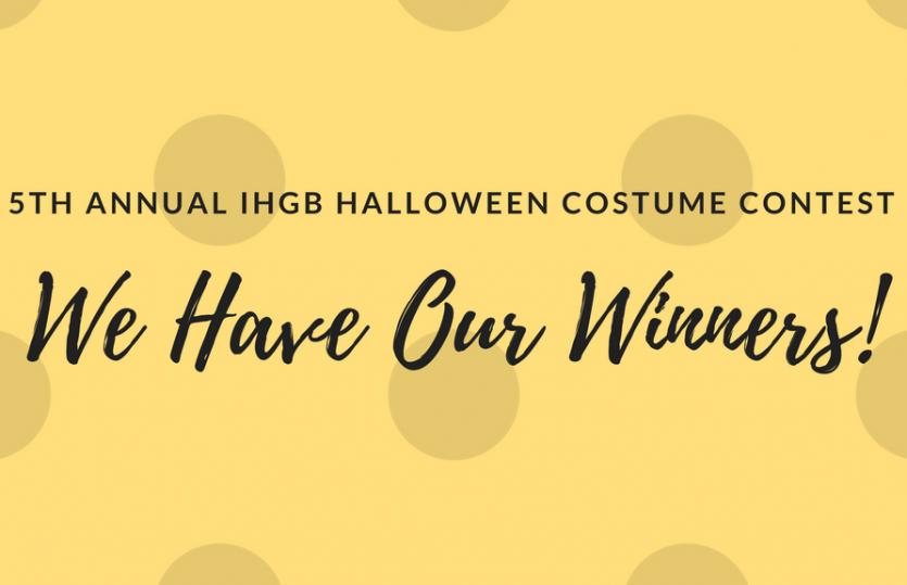 5th Annual IHGB Halloween Costume Contest Winners